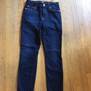 7 For All Mankind midrise ankle skinny
